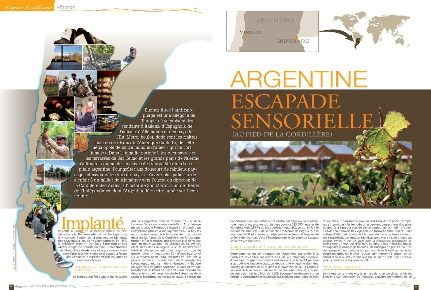 Argentine, escapade sensorielle (au pied de la Cordillère)