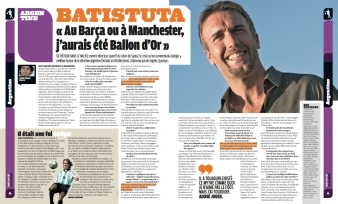 ITW Batistuta - France Football