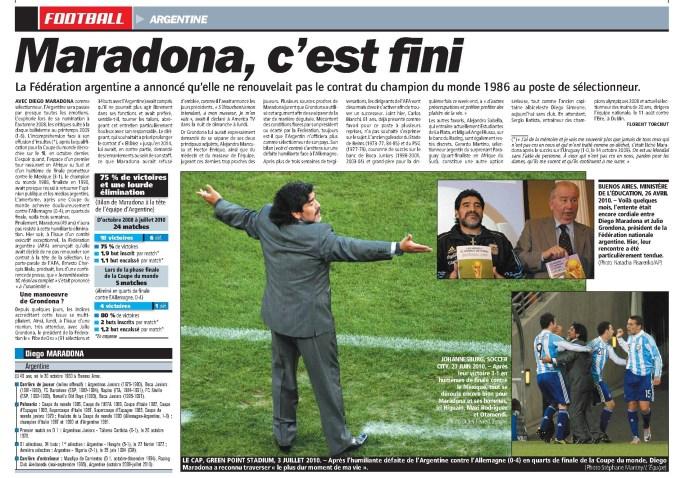 Maradona, c'est fini
