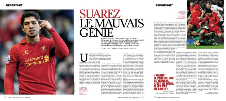 Suarez - L'Equipe Mag